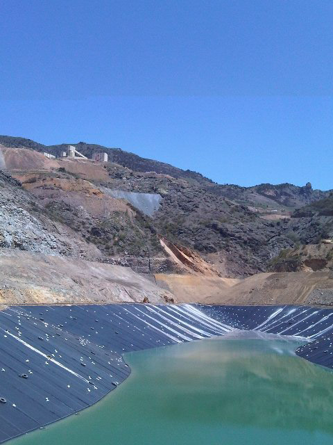 mine tailings pond